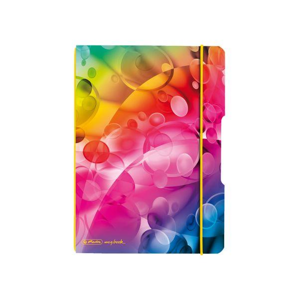 poznámkový blok flex, A5, 40 listů čtvereček, my.book, motiv Bubliny