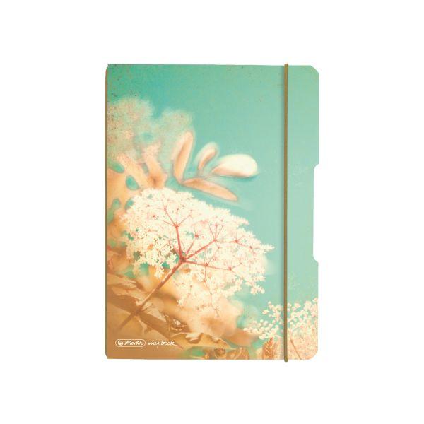 poznámkový blok flex, A5, 40 listů, čtvereček my.book, motiv Vintage květiny