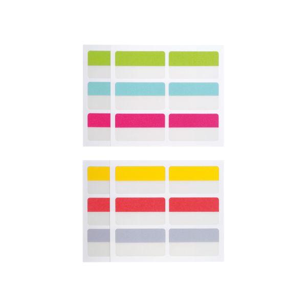 nalepovací rozlišovače do kartotéky, 22 x 40 mm, 24 ks 6 barev po 4 ks, eurozávěs
