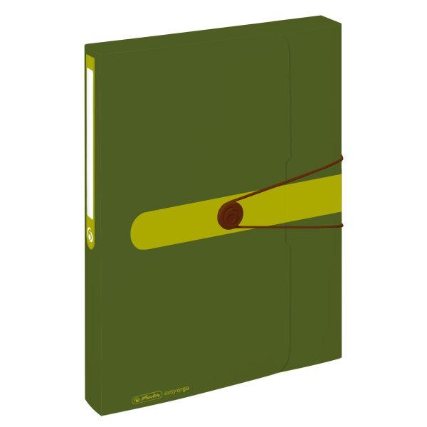 box na spisy, recyklovaný PP, A4, tmavě zelený