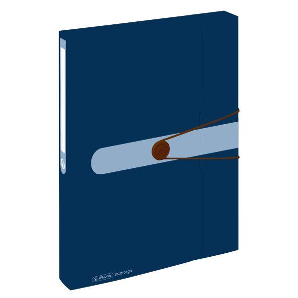 box na spisy, recyklovaný PP, A4, tmavě modrý