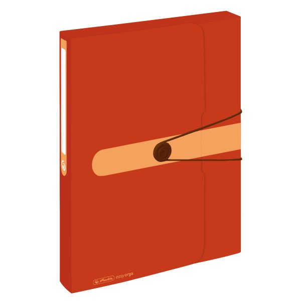 box na spisy, recyklovaný PP, A4, oranžový