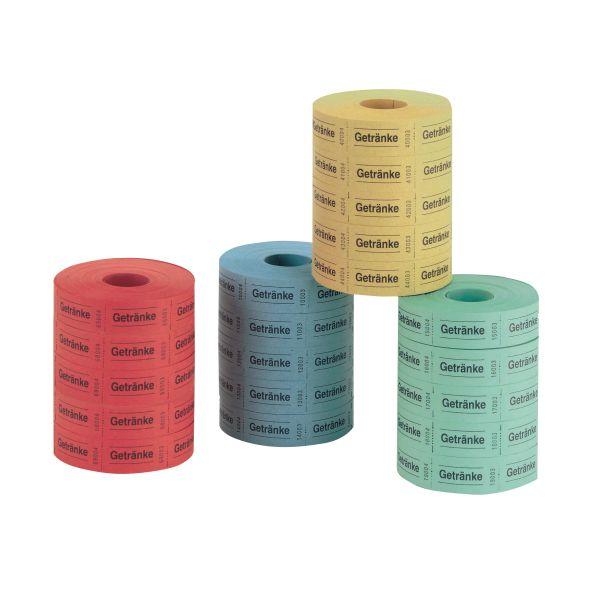nápojové kupony, 5 x 1000, útržky postupně číslované, 5 rolí