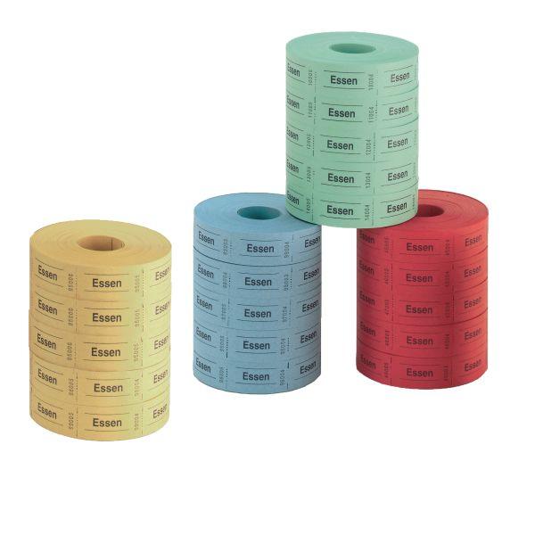 obědové kupony 5 x 1000, útržky postupně číslované, 5 rolí