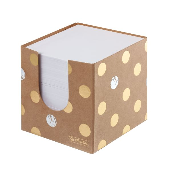 Špalík 9x9x9cm/700lístků, Pure Glam