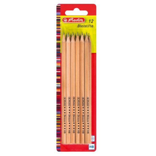 tužky Skizzo, přírodní, HB, 12 ks, FSC na blisteru