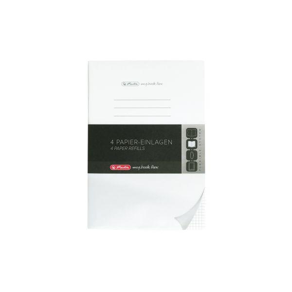 náhradní náplň flex, A4, 4 x 40 listů, čtvereček děrované, mikroperforace, my.book