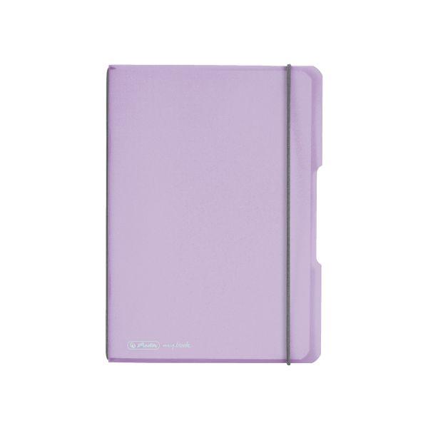 Notizheft flex PP A5,40 Blatt, kariert flieder, my.book
