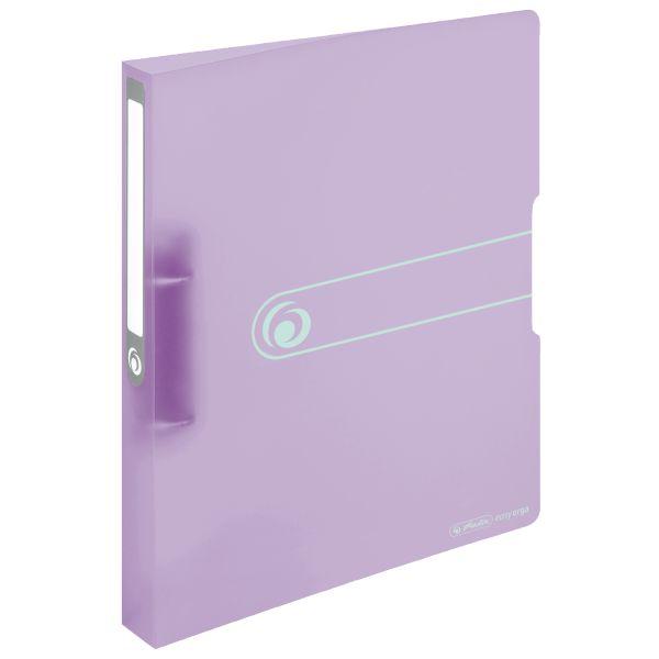 Ringbuch PP A4 2 Ringe 25mm transparent flieder