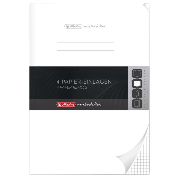 Refill flex A4 4x40 Blatt kariert, gelocht Mikroperforation, my.book