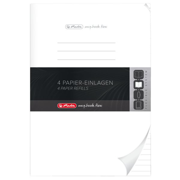 Refill flex A4 4x40 Blatt liniert, gelocht Mikroperforation, my.book