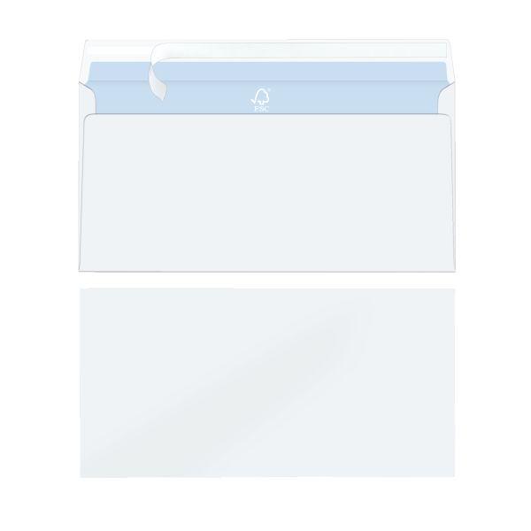 Briefumschlag DL 100g haftklebend hochweiß FSC Mix 15er Packung