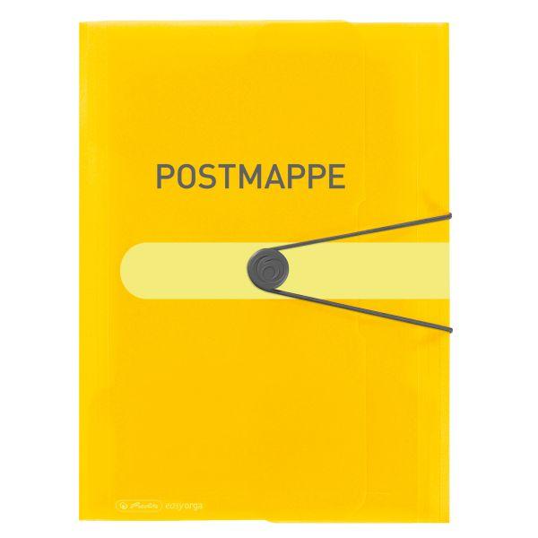 Gummizugmappe PP A4 Postmappe transparent gelb