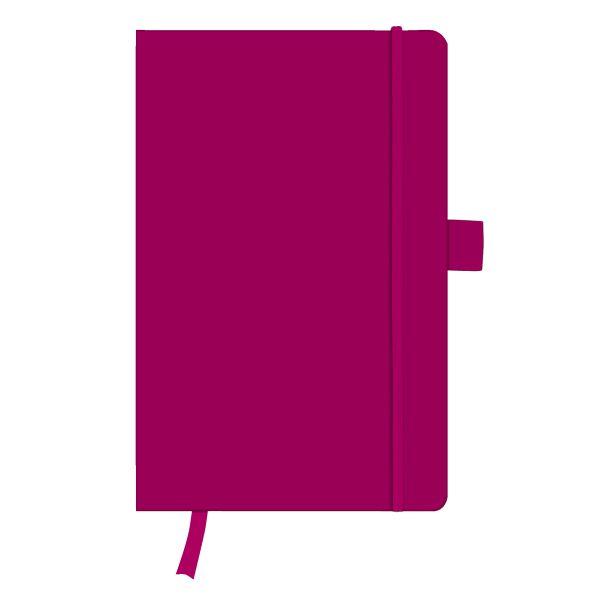 Notizbuch Classic A5 96 Blatt liniert berry mit Leseband und Falttasche my.book