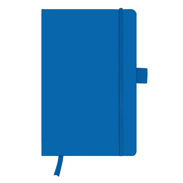 Notizbuch Classic A5 96 Blatt kariert blue mit Leseband und Falttasche my.book