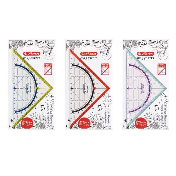 Geometriedreieck my.pen Kunststoff 16cm farbig sortiert
