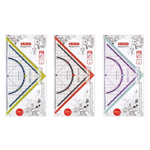 Geometriedreieck my.pen Kunststoff 25cm farbig sortiert