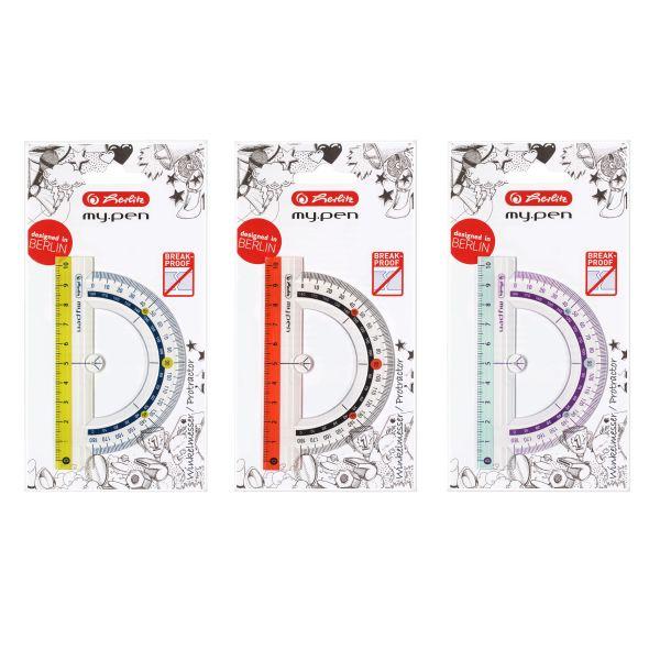 Winkelmesser my.pen Kunststoff 10cm farbig sortiert