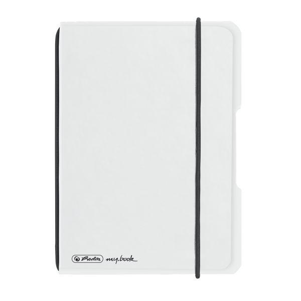 Notizheft flex PP A6,40 Blatt, kariert transparent, my.book