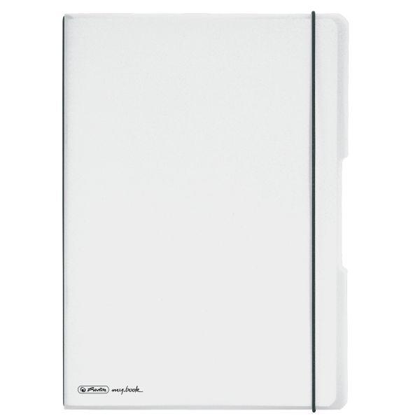 Notizheft flex PP A4,40Blatt kariert und 40Blatt transparent,gelocht, Mikroperforation my.book