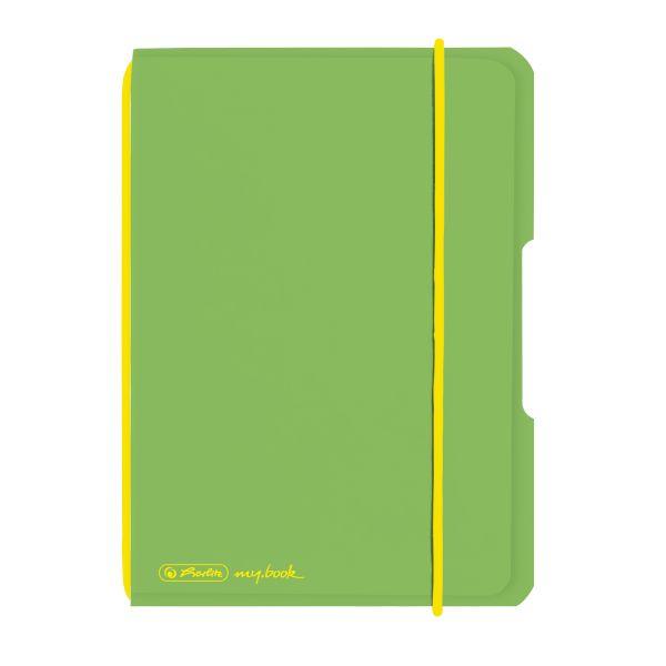 Notizheft flex PP A6,40 Blatt, kariert hellgrün, my.book