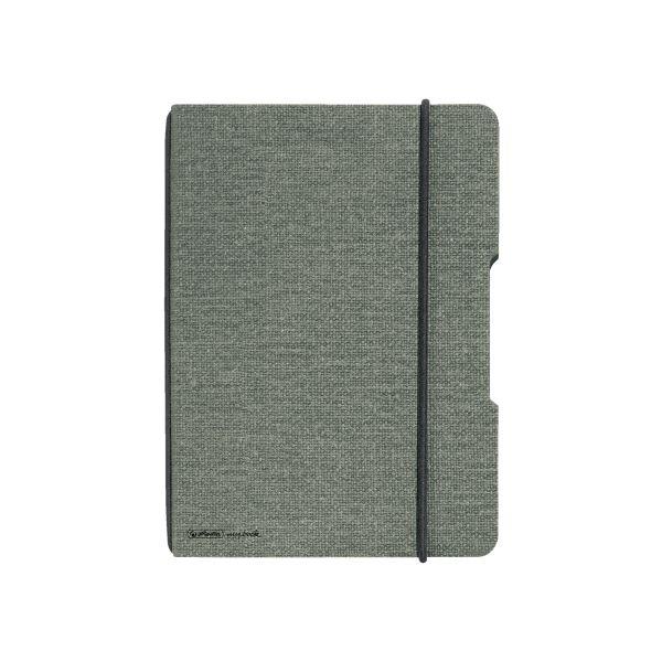 Notizheft flex Leinen A5,40 Blatt, kariert grau, my.book