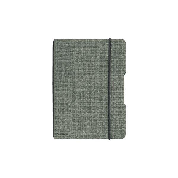 Notizheft flex Leinen A6,40 Blatt, kariert grau, my.book