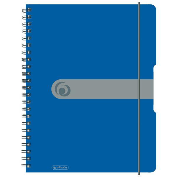 Spiralblock A4 to go 80 Blatt Sonderlineatur kariert blau