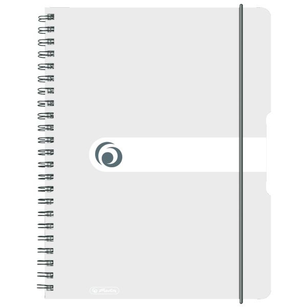Spiralblock A4 to go 80 Blatt Sonderlineatur kariert transparent