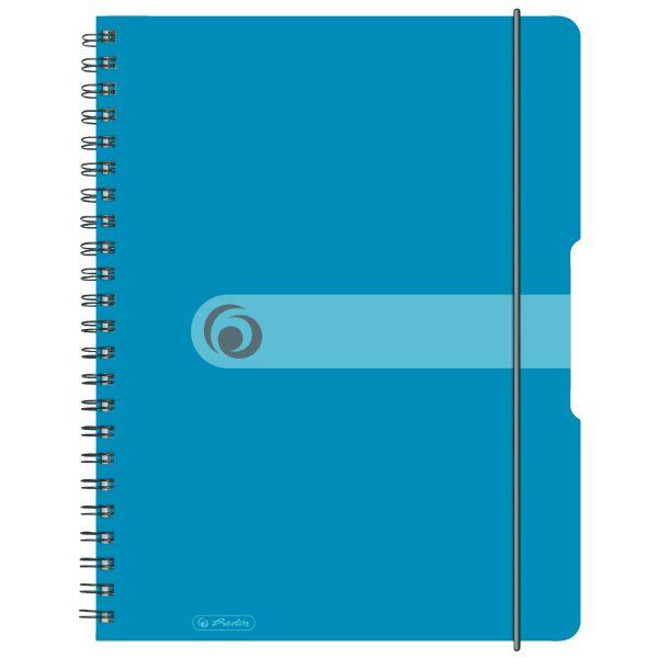 Spiralblock A4 to go 80 Blatt Sonderlineatur kariert transp.blau