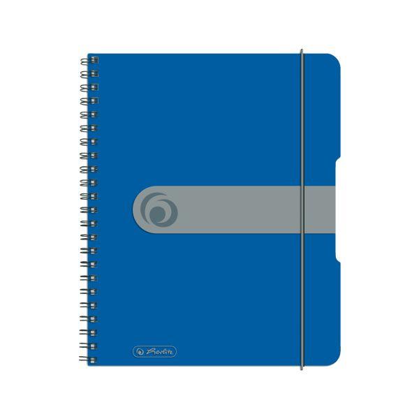 Spiralblock A5 to go 80 Blatt Sonderlineatur kariert blau