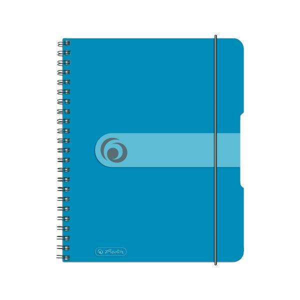 Spiralblock A5 to go 80 Blatt Sonderlineatur kariert transp.blau