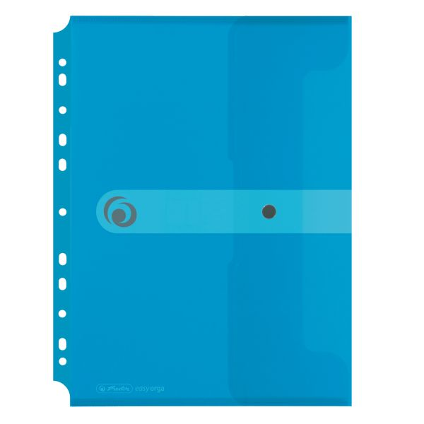 Dokumententasche PP A4 zum Abheften transparent blau