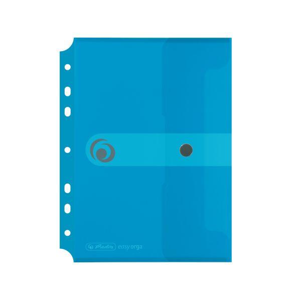 Dokumententasche PP A5 zum Abheften transparent blau