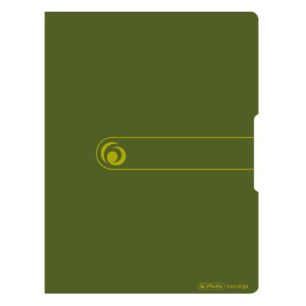 Herlitz easy orga to go green Sichtbuch A4 mit 20 Hüllen, Recycling PP, Dunkelgrün