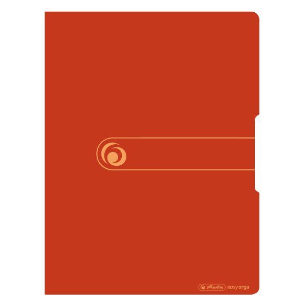 Herlitz easy orga to go green Sichtbuch A4 mit 20 Hüllen, Recycling PP, Orange