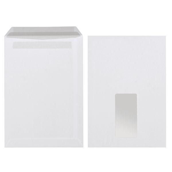 Versandtasche C5 90g selbstklebend mit Fenster weiß 500er Karton