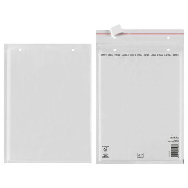 Luftpolstertasche G 25x34 cm haftklebend weiß FSC Mix