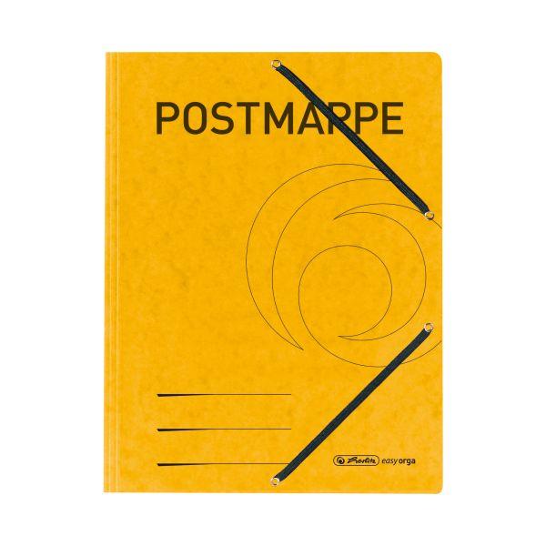 Einschlagmappe mit Gummizug A4 Postmappe gelb