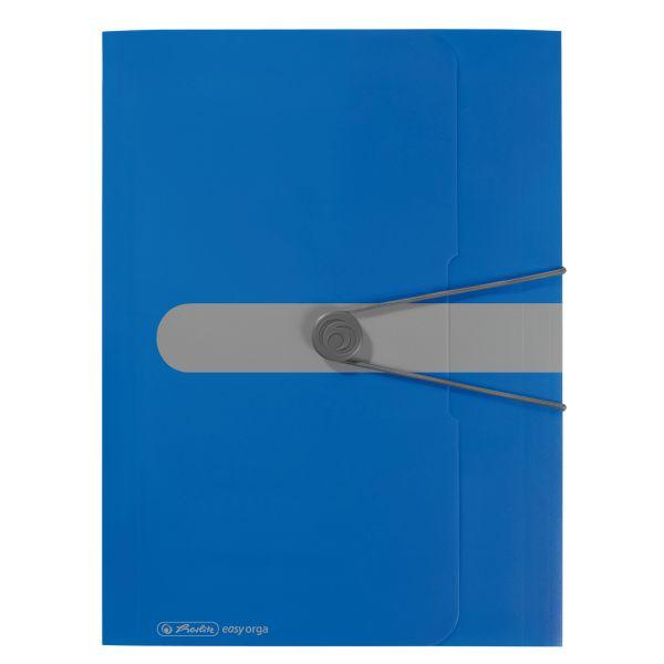 Gummizugmappe PP A4 opak blau