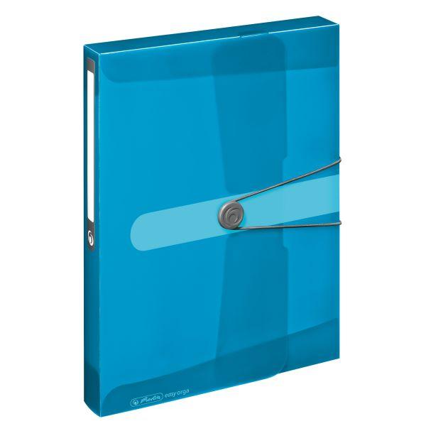 Sammelbox A4 PP transparent blau