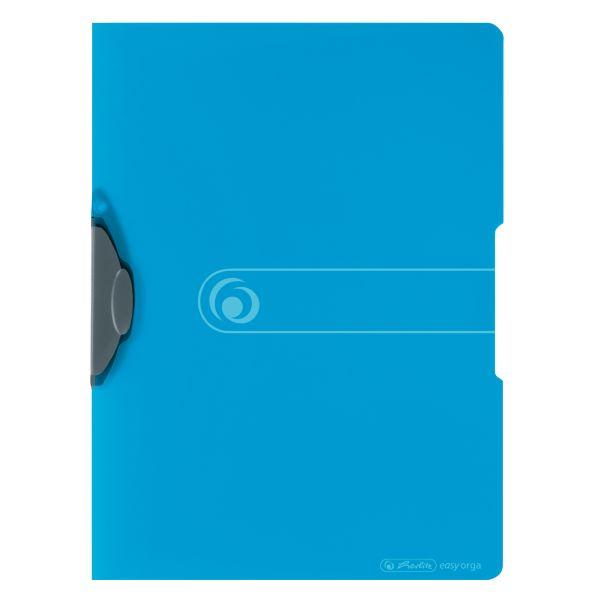 Express-Clip A4 PP transparent blau