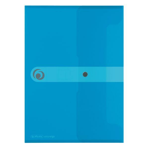 Dokumententasche PP A4 transparent blau
