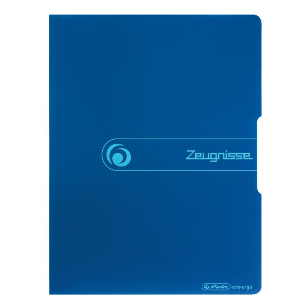 Sichtbuch PP A4 20 Hüllen 'Zeugnisse' blau