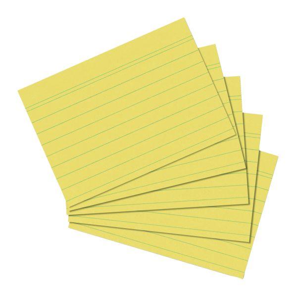 Karteikarte A6 gelb liniert 100er Packung