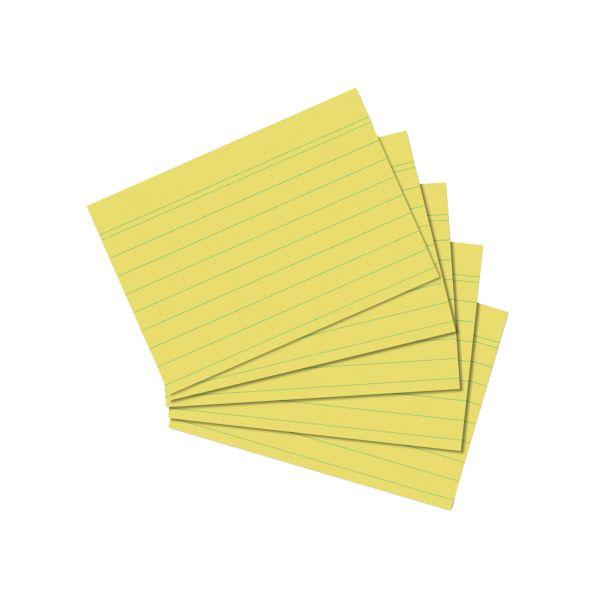 Karteikarte A7 liniert gelb 100er Packung