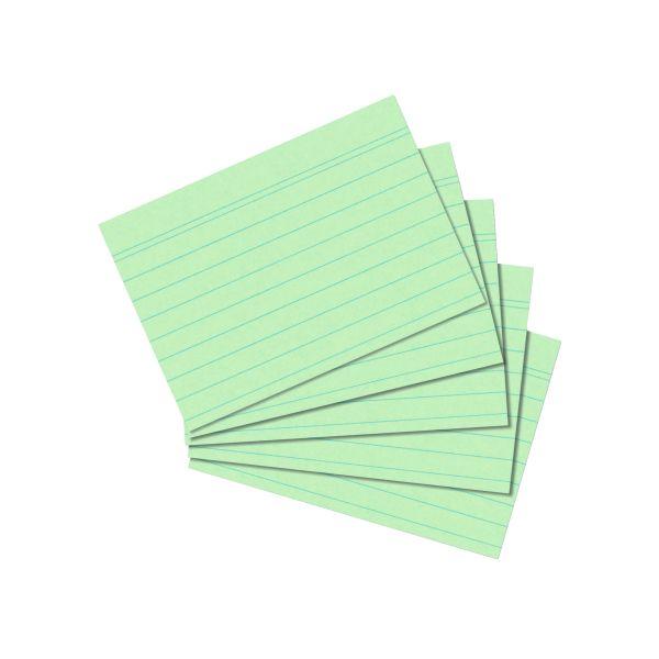 Karteikarte A7 liniert grün 100er Packung
