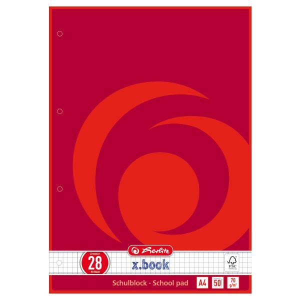 Schulblock A4 50 Blatt FSC Mix Lineatur 28 1 Motiv