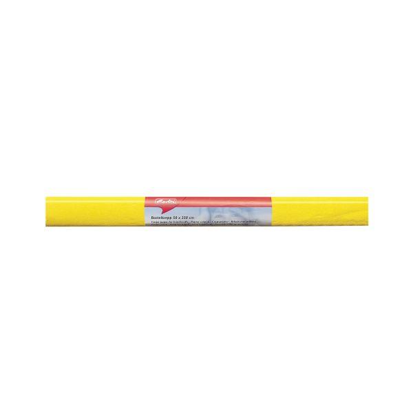 Bastelkrepp 50x250 cm gelb