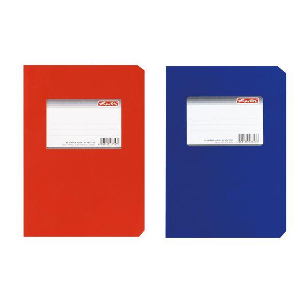 Diarium A5 150 Blatt kariert glänzend Farben rot und blau